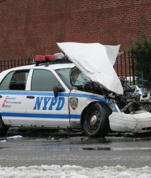 Auto ongeluk tijdens werktijd